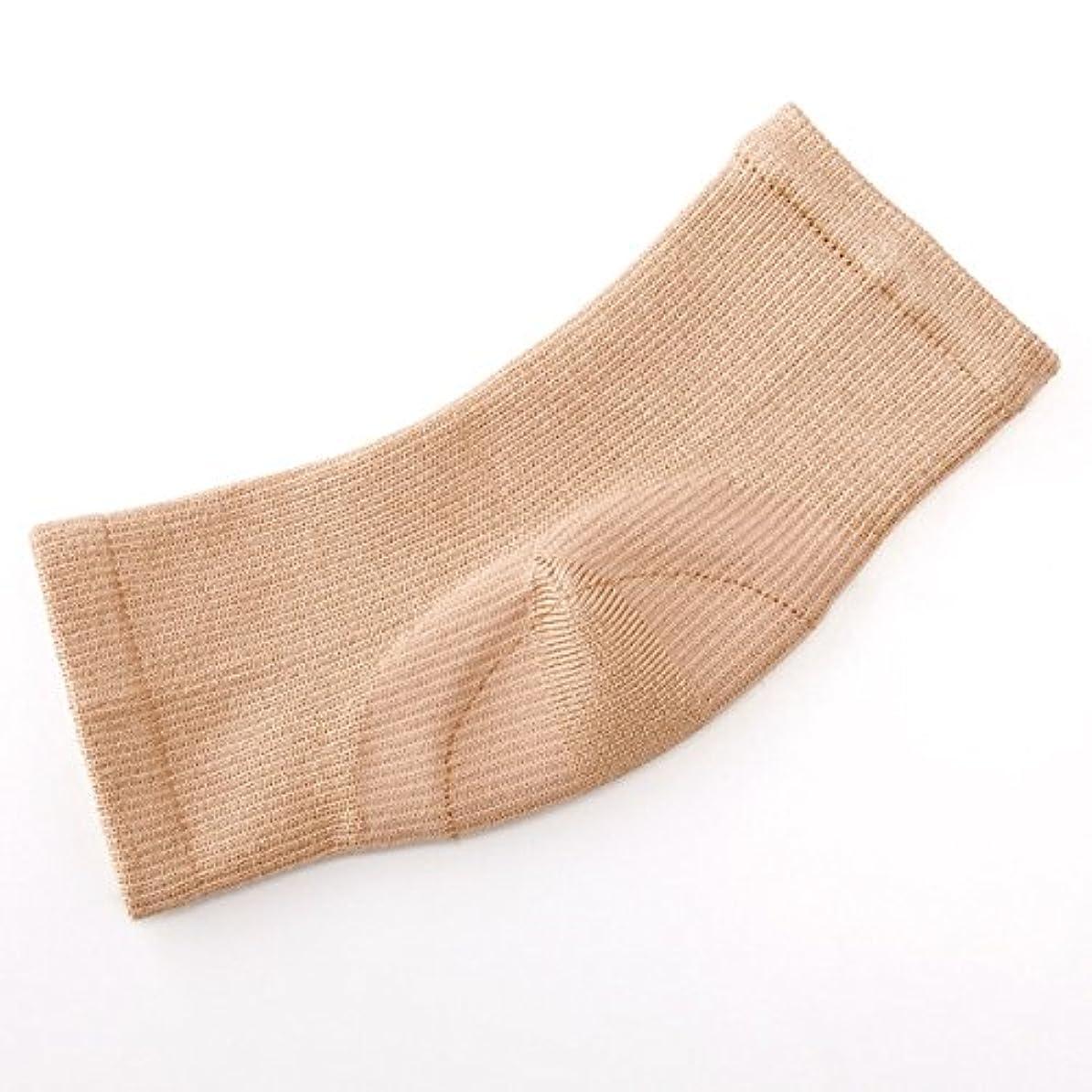 こねるカヌー倍率シルク混かかと足裏つるるん シルク混 フットカバー かかと 保湿 フットケア 靴下