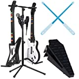 Rock Band Kit Features Glow Drumsticks, a Kick Pedal, and a Guitar Stand (輸入版)