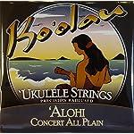 【KO'OLAU STRINGS】 ALOHI CONCERT PLAIN コンサート用 ウクレレ弦セット (高密度モノフィラメント繊維)