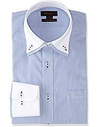 [タカキュー] m.f.Editorial 形態安定 スリムフィット 2枚衿ドゥエボタンダウンシャツ メンズ 110214619766833