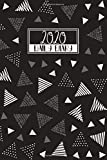 2020 Daily Diary: A5 Day on a Page to View Full DO1P Planner Lined Writing Journal | Black &Neutral Doodle Triangles (2020 Daily Diaries)
