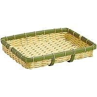 ディスプレイ バスケット かご 樹脂 トレー トレイ 角 長 深型 食洗機 対応  竹  40号 (約40×30×6cm)  91-056A