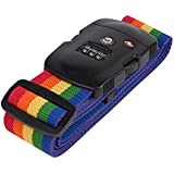 Magicfly TSA Approved Luggage Strap Locks / Cable lock TSA / Travel Lock - Rainbow
