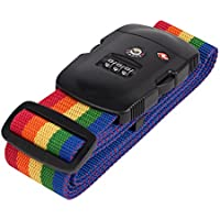 Magicfly TSA Approved Luggage Strap Locks / Cable lock TSA / Travel Lock - Rainbow