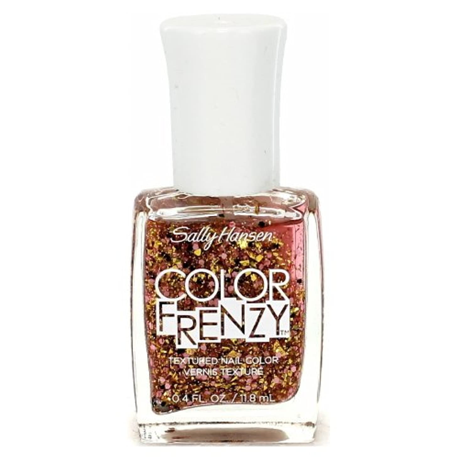 一過性振る遷移(3 Pack) SALLY HANSEN Color Frenzy Textured Nail Color - Splattered (並行輸入品)