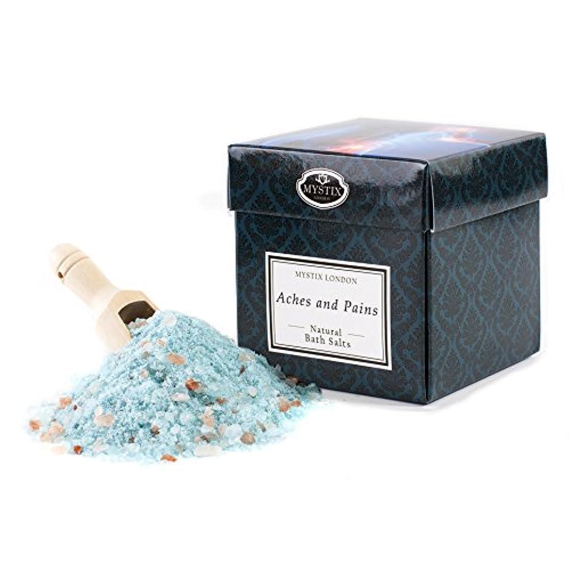 パンフレットライナー受粉するMystix London | Aches & Pains Bath Salt - 350g