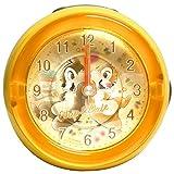 ディズニー 目覚まし時計 アナログ LEDクロック メロディ アラーム チップ&デール オレンジ