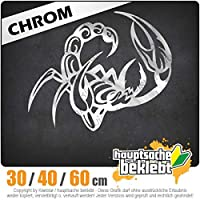 Skopion - 3つのサイズで利用できます 15色 - ネオン+クロム! ステッカービニールオートバイ