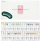 クサカベ 透明水彩絵具 和彩 36色セット 5ml(2号)