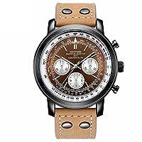 RaiFu クォーツ時計 メンズ クラシック ビジネス クォーツ 時計 デイリー ウォータープルー 腕時計 オーナメント 2002YE