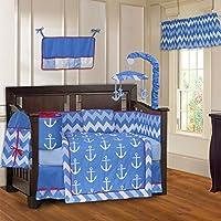 BabyFad Anchor Chevron Zig Zag 10 Piece Baby Crib Bedding Set [並行輸入品]
