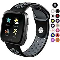 Silicone Fitbit Versa Sport Band Replacement, FreeDeal Kids Adult Watch Strap Wristband Fitbit Bands Small & Large Size