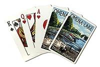 スタージス、ミシガン州–Omena湖–Pontoonボート( Playingカードデッキ–52カードPokerサイズwithジョーカー)