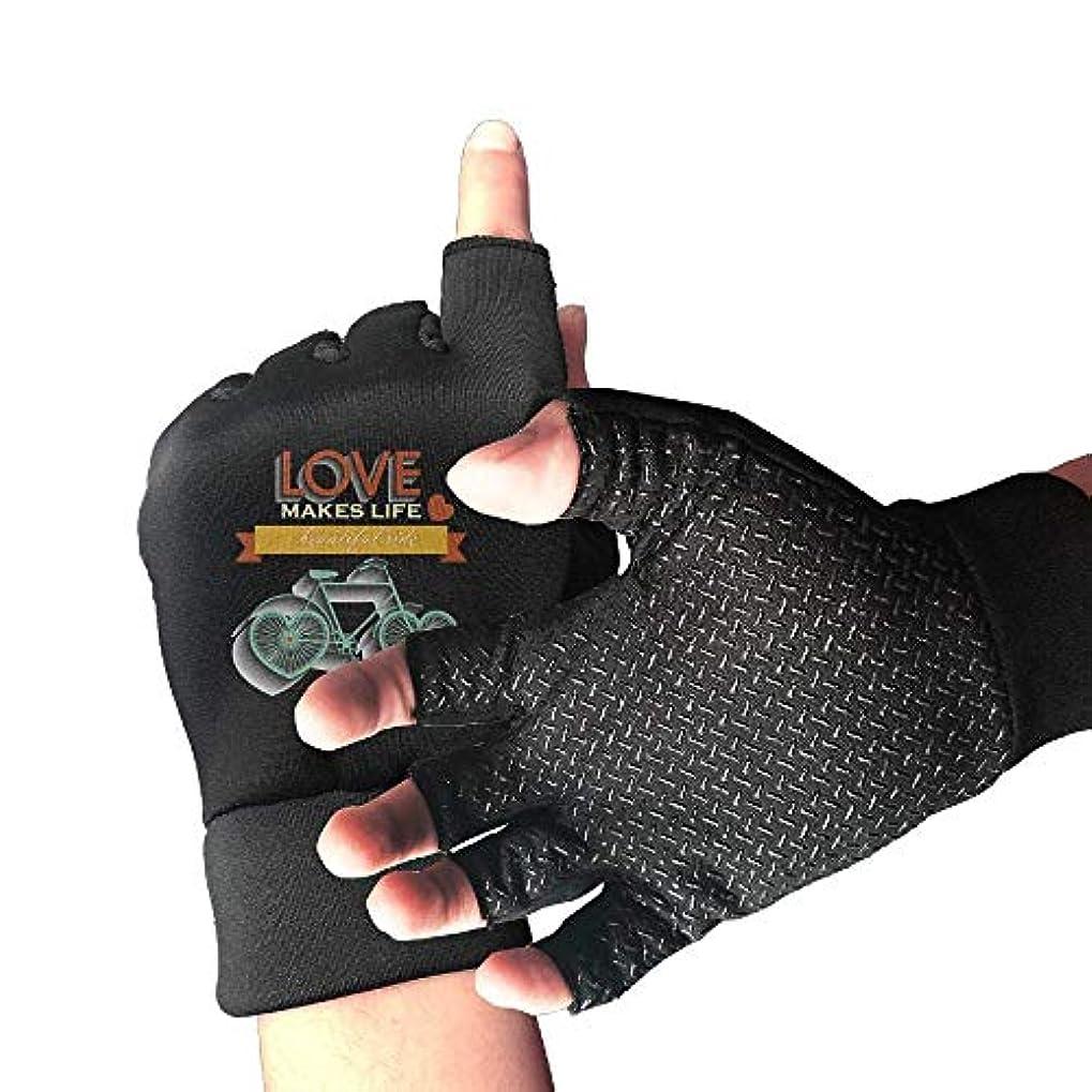 腐敗ソーダ水消費するCycling Gloves Love Bicycle Men's/Women's Mountain Bike Gloves Half Finger Anti-Slip Motorcycle Gloves