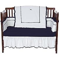 ベビードール寝具ユニークなベビーベッド寝具セット、海軍