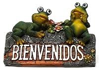 Iwgacホーム室内装飾Seasonal Collectibles Ornaments Bienvenidos Frog Plaque