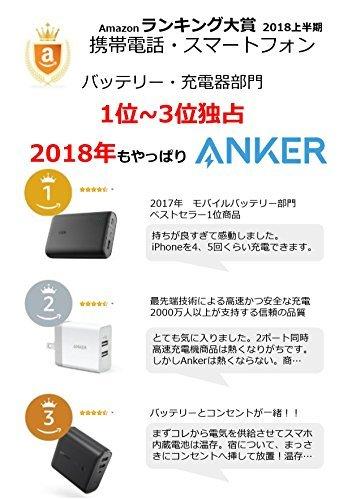 Anker PowerCore Fusion 5000 (5000mAh モバイルバッテリー搭載 USB急速充電器) 【PowerIQ搭載/折畳式プラグ搭載】 iPhone、iPad、Android各種対応(レッド)
