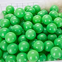 momowu 2.75インチ フタル酸フリー 楽しい 耐クラッシュボール ソフトPEエア充填 オーシャンボール プレイボール ピットボール ベビー キッズ トンネル/テント/プール/スイムジャンプハウス グリーン 100個