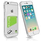 iPhone6Plusケース カード収納 クリア   iPhone6sPlusケース ソフトTPU アイフォン6プラスケース透明 薄い スリム 軽量 衝撃吸収 柔らかい Fogeek (iPhone6plus /6splus, クリア)