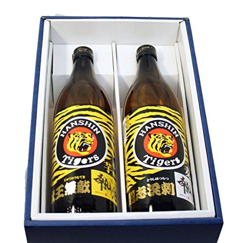 阪神タイガース公認 執念 2018年限定ボトル芋焼酎 獣王無敵(じゅうおうむてき)麦焼酎 闘志溌剌(とうしはつらつ)2本セット