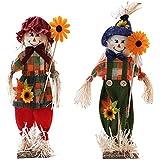 Scarecrow Decor Halloween Home Decorations Scarecrow Decoration for Garden, Home, Yard, Porch Decor (2pcs)