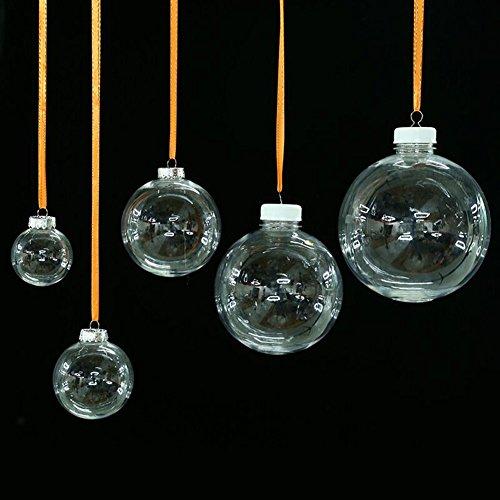 透明中空ボール クリスマスボール DIY装飾 クリスマス飾り...