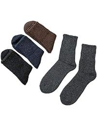 メンズ ソックス 秋 冬 防寒 ウール 靴下 厚 緩め履き口