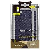 Simplism iPhone6 (4.7インチ)用 カードポケットファブリックケース デニム TR-FCIP144-DM