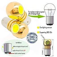 Wiseshine led オート 電球 baw15d 電球 S25 4 led HP DC9-30v 3年間の品質保証(2パック) baw15d 4 led HP クールホワイト