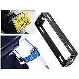 【 簡単 取付 】 バイク 汎 用 ナンバー ステー 角度 調整 可能 原付 中型 大型 (ブラック) SD-NUMSTAY-BK (¥ 580)