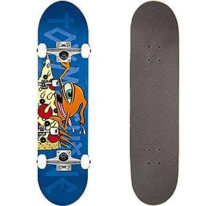 TOY MACHINE(トイマシーン) スケートボード コンプリート (完成品) PIZZA SECT #02 L.BLUE 【高品質パーツ使用 ブランド純正品】 スケボー C17025 (7.75 x 31.625)