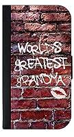 World 's Greatest grandma-グラフィティレンガwall- TM Apple iPad « Mini–バージョン、2、3PUレザーとスエードケースMade in the USA