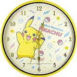 ティーズファクトリー 掛け時計 80sPOP/ピカチュウ 30×30×4cm ポケモン インデックスウォールクロック PM-5520187PC