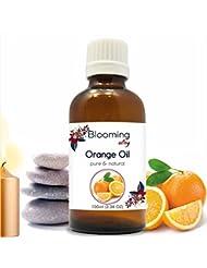 Orange Oil (Citrus Aurantium) Essential Oil 100 ml or 3.38 Fl Oz by Blooming Alley