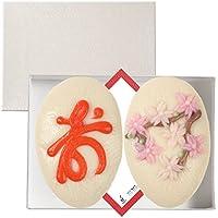 梅かま 細工かまぼこ お祝いギフトセット 寿桜セット2枚入