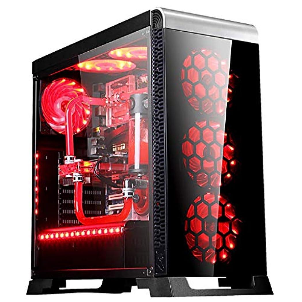 イル必要条件段階XZ15 MINl-ITX/マイクロATX/ATX/E-ATX、ミッドタワー、PCゲーム用コンピュータケース、強化ガラスパネル、ブラック (Color : Black)