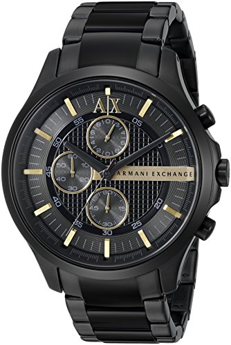 Armani Exchange アルマーニ エクスチェンジ メンズ 時計 腕時計 Men's AX2164 Black PVD Stainless Steel Watch