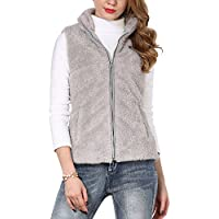 Shy Velvet Women's Slim Activewear Fall and Winter Fleece Vest with Pockets