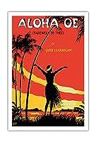 アロハ・オエ(あなたにさよなら) - ハワイの女王リリウオカラニ(リリウオカラニ)の有名な歌 - ビンテージなシートミュージック によって作成された ル・モルガン c.1915 - アートポスター - 76cm x 112cm