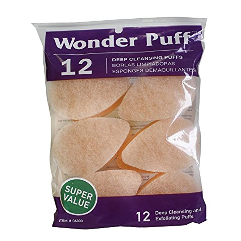 含意研磨剤解決Wonder Puff Deep Cleansing Puffs 12's (並行輸入品)