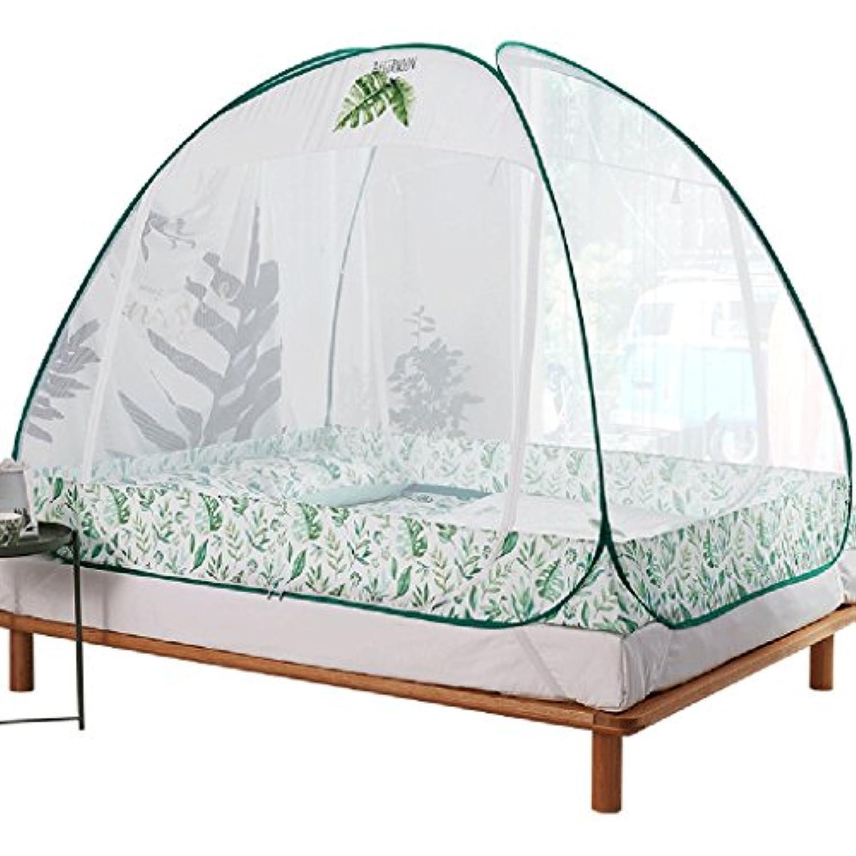 蚊帳ネット糸ブラケットジッパーアウトドアキャンプボトムプリンセス風コートスタイルの夏シングルダブルベッド蚊昆虫と防風ダストThicken世帯 (サイズ さいず : 1.5m(bed))
