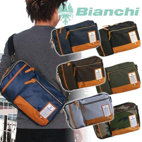 [ビアンキ]Bianchi ボディバッグ ワンショルダー ショルダーバッグ 斜め掛けバッグ メンズ レディース LBTC-13 (ネイビー)