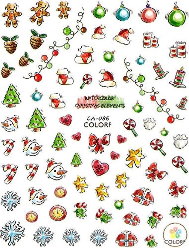バラ色弁護最終的に極薄 ネイルシール クリスマス スノー サンタ デコやレジン、アルバム制作などに (05-C53)