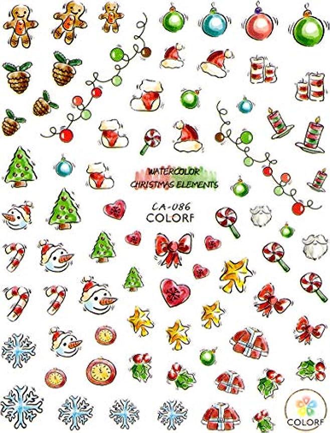 有効教科書鈍い極薄 ネイルシール クリスマス スノー サンタ デコやレジン、アルバム制作などに (05-C53)