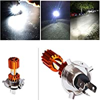 FidgetGear 1x H4 3xCOB LED Motorcycle Headlight Bulb High/Low Beam Fog Light 2000LM Scooter