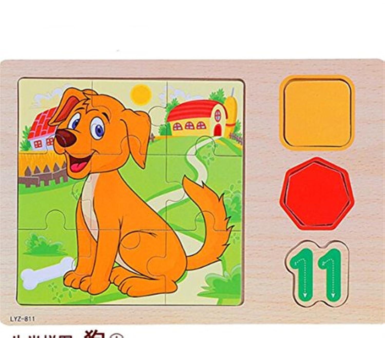 YChoice 教育パズル キッズ 知的 木製ペグパズル 教育学習玩具 素晴らしいギフト 子供(犬)