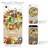 【iPhone5S】【iPhone5】【iPhone5Sケース】【iphone5ケース】【ケース カバー】【docomo】【au】【Soft Bank】【スマホケース】【クリアケース】【フラワー】 06-ip5s-ca0081