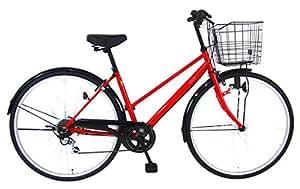 C.Dream(シードリーム) ココブラック CC766BK 27インチ自転車 シティサイクル レッド 6段変速 100%組立済み発送