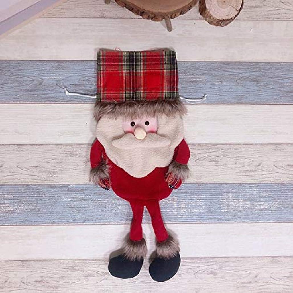 和解する追跡空のかわいいキャンディーバッグギフトクリスマスツリーの飾り食器カバーキャンディーバッグサンタクロース雪だるまギフトキャンディーバッグ飾り