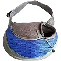 YUDODO Pet Carrier Soft Dog Cat Rabbit Travel Sling Shoulder Bag (Blue, S, fits Small Animals Less Than 4lb)